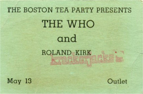 Who Ticket from Joan Kershaw